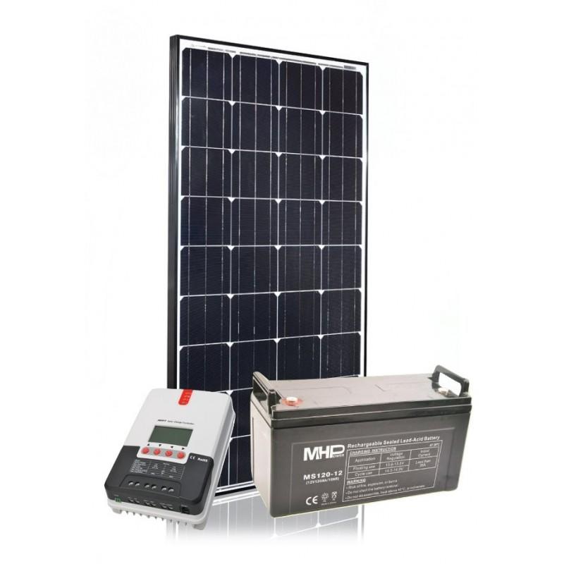 Solární systém 160Wp/12V/120Ah - SET160