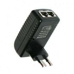 MHPower napájecí POE adaptér 24V 1A 24W pro MikroTik RouterBOARD a ALIX - přímo do zásuvky (bez LED diody)