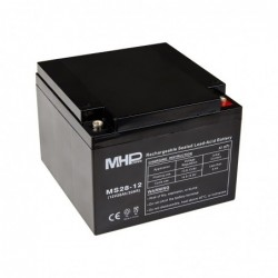 MHPower MS28-12 olověný akumulátor AGM 12V/28Ah